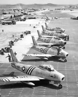 F-86 SABRE JET KOREAN WAR FLIGHT LINE 8x10 SILVER HALIDE PHOTO PRINT