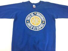 Vintage New York City sweatshirt Blue sweatshirt Times Square Street Style 90s L