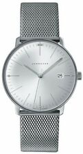 AUTHORIZED DEALER Junghans 041/4463.44 Max Bill Quartz Stainless Steel Watch