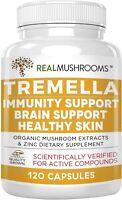 Real Mushrooms Tremella Mushroom Extract Supplement Immunity Brain Support