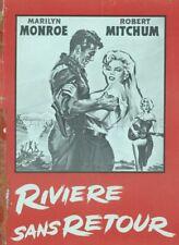 MARILYN MONROE ROBERT MITCHUM RIVERS OF NO RETURN 1954 ORIGINAL PRESSBOOK