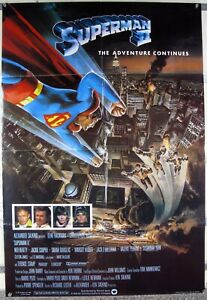 SUPERMAN II Christopher Reeve Terence Stamp DC SUPERHERO SCI-FI UK 1SHT 1980