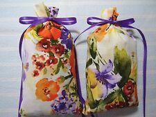 "Ivory Sachets 5""X2""-'Lavender Sandalwood' Fragrance-Floral Watercolor Sachet-377"