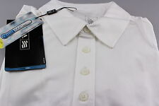 Adidas Climacool Golf Polo Shirt Mesh Breathable White Silver Logo Sample L New