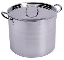 CONCORD 100 QT Full Stainless Steel Stock Pot w Steamer. Home Brew Cookware Beer