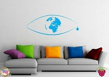 Wall Stickers Vinyl Decal Nature Earth is Crying Green Peace Beautiful z1124