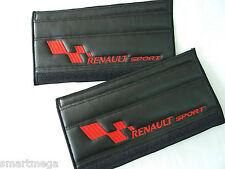 Seat Cintura Harness pastiglie per Renault Sport , Nera PU Pelle , Set da 2