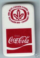 old COCA-COLA pin  1981 Jeux CANADA GAMES