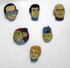 Set of 6- THUNDERBIRDS Characters Metal Pin (L9723)