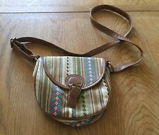 F & F Cross Over Shoulder Bag with Inside Zipped Pocket