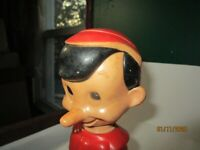 Vintage Walt Disney Pinocchio Red Plastic Soaky Bottle 11 oz Empty