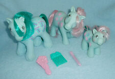 Rare Vintage My Little Pony 'Sweet Celebrations' Family Daddy Mommy Baby Boy EUC