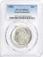 1926 Sesquicentennial Commemorative Silver Half Dollar- PCGS MS 62