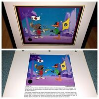 warner bros cel daffy duck marvin planet x signed chuck jones last artist proof