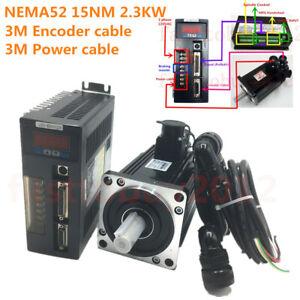 2.3KW 15NM AC Servo Motor NEMA52 Drive Control 220V 1500R/Min Material Conveying