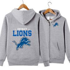 Detroit Lions Hoodie Sporty jacket Zip Up casual coat Sweatshirt FAN'S Gift