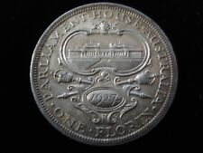 Australian 1927 Commemorative Florin 8 Pearls + Steps Almost Uncirculated #ACL9
