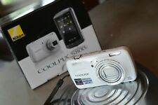 Nikon COOLPIX S800c 16.0MP Digital Camera - White - Android OPEN BOX - PERFECT!!