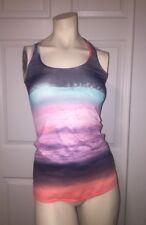 Lululemon Cool Racerback Beachscape Sunset Multicolor Yoga Tank Top Size 4