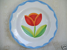 """Vintage Lillian Vernon Tulip 9"""" Deep Soup Plate Mint Condition Made In Italy"""