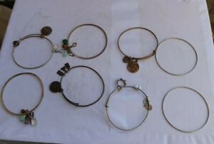 LOT Vintage Alex And Ani Designer Jewelry Charm Bracelets Collection Energy LOOK
