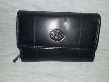Ladies Soft Leather Purse/Wallet by London Leathergoods Black Organiser
