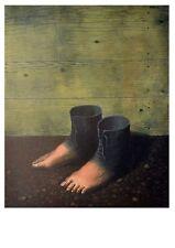 Rene Magritte Das rote Modell Poster Kunstdruck Bild 70x50cm
