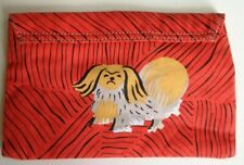Anthropologie Pilcro and the Letterpress Pekingese Dog Clutch Pouch Bag