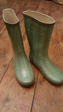 Oasis Wellies Size 4 Turquoise Snake Print