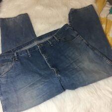 Wrangler Mens 46 x 30 Regular Fit Jeans  100% Cotton Denim Blue
