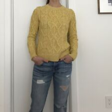 Banana Republic textured yellow cable knit sweater, XS