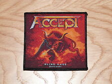 ACCEPT - BLIND RAGE (NEW) SEW ON W-PATCH OFFICIAL BAND MERCHANDISE