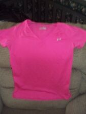 WOMEN'S UNDER ARMOUR HEAT GEAR PINK SHIRT-PINK-SIZE SM/P/P-FITTED