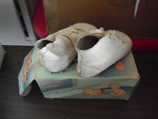Vintage Wee Walker Doll or Baby Leather Shoes Size 2 in Box