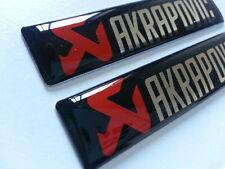 2 Pics small EMBLEM Badge AKRAPOVIC Motorcycle Racing