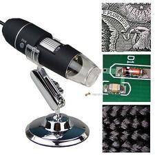 1000X 8LED Digital USB Microscope Zoom 2MP Endoscope PC Camera VideoMagnifier LN