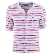 Gestreifte Herren-Poloshirts mit V-Ausschnitt