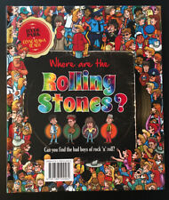 More details for where are the rolling stones? | hard back book | in the style of where's wally?