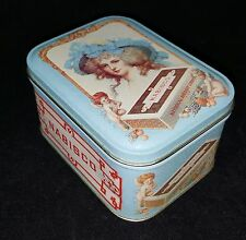 Vtg 1992 Nabisco National Biscuit Co Blue Cherubs & Marie Antoinette Tin Box