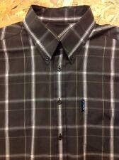 men's BEN SHERMAN XL Grey Check Shirt. Long Sleeve. Superb Cond.