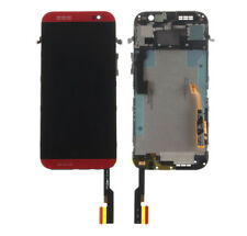 Red LCD Display Touch Screen Digitizer Replacement +Frame For HTC One M8 831C