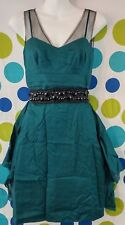 Lavender Label Vera Wang Women's Size 4 Green Beaded Prom Event Party Dress
