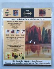Plaid Folk Art One Stroke Learn To Paint Pack Reflective Lakes New Trees 5022