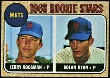 1968 Topps NOLAN RYAN / JERRY KOOSMAN Rookie Stars Mets #177 HOF!