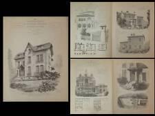 TRIEL SUR SEINE, DOUAI - GRAVURES ARCHITECTURE 1900 - CAGNES VILLA LA BEGUDE