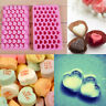 Ice Cube Cookie Soap Silicone Heart Shape Mold Mould Baking Tray Chocolate Cake