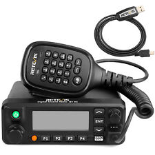 Hot Retevis RT90 DMR Dual-Band-Display Digital 50W Mobiles Autoradio + USB-Kabel