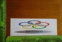 Alter Aufkleber Olympia Barcelona 1992