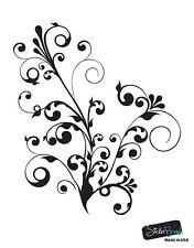 Swirl Floral Flower Wall Decal Decor Sticker #511