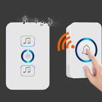 Wireless Waterproof Doorbell 1 Button 1 Receiver 200m Remote Control Smart Home